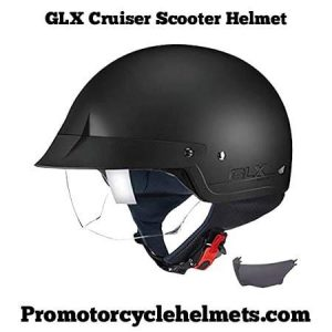 GLX Cruiser Scooter Motorcycle Open Face Helmet
