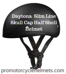 Daytona Helmet Slim Line Skull Cap Half Shell Helmet