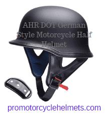 AHR DOT German Style Motorcycle Half Helmet