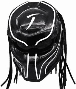 Black & White Blade Predator Motorcycle Helmet