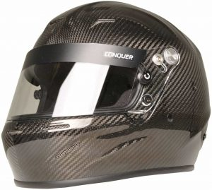 Conquer Carbon Fiber Auto Racing Helmet Shell