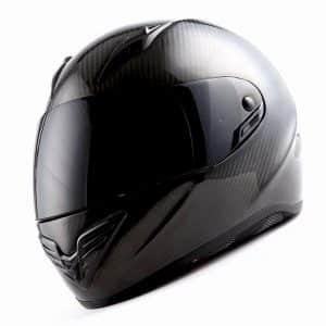 MARS Genuine Carbon Fiber Motorcycle Street Bike Helmet