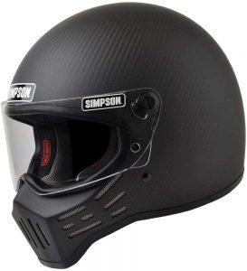 Simpson M30 Satin Carbon Fiber Motorcycle Helmet