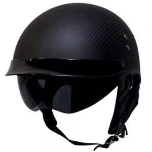 Voss 888CF Genuine Fiber DOT Half Helmet