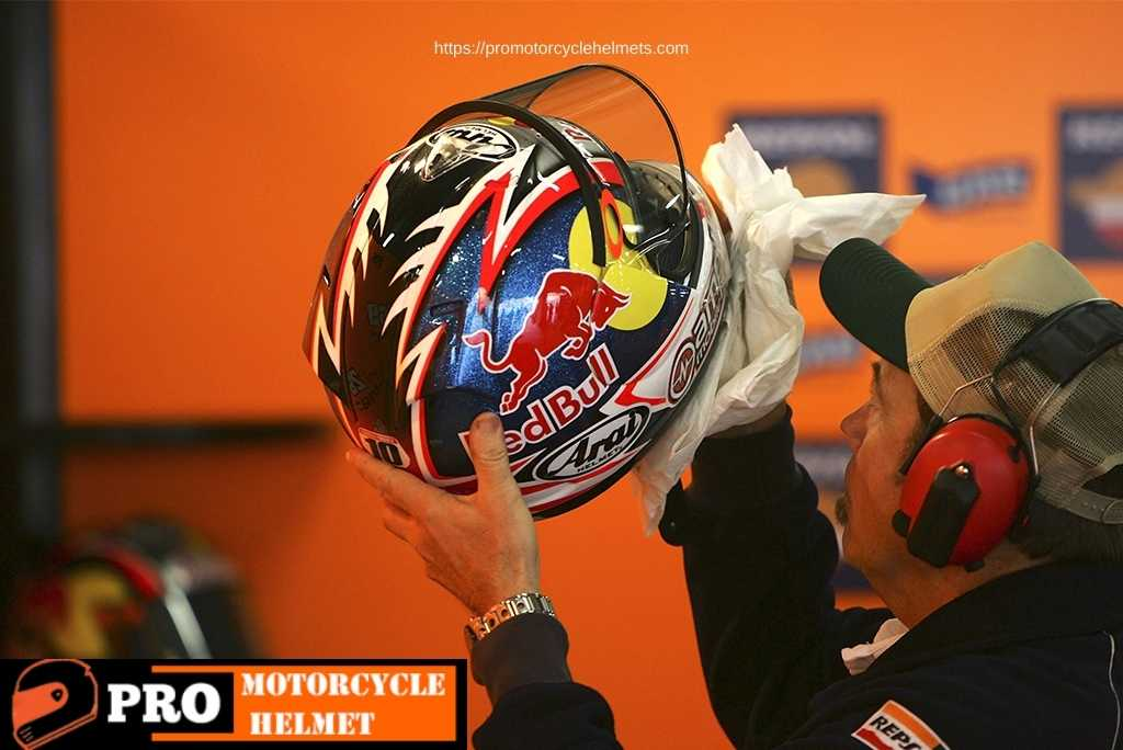 how to clean helmet visor scratches